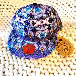 NWT Grassroots California Psychedelic Owl Hat